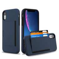 *SALE* Poket Credit Card Hybrid Armor Case for iPhone XR - Navy Blue