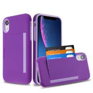 *SALE* Poket Credit Card Hybrid Armor Case for iPhone XR - Purple