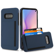 *SALE* Poket Credit Card Hybrid Armor Case for Samsung Galaxy S10e - Navy Blue