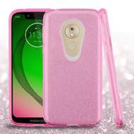 *Sale* Full Glitter Hybrid Protective Case for Motorola Moto G7 Play - Pink