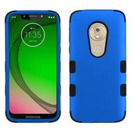 Military Grade Certified TUFF Hybrid Armor Case for Motorola Moto G7 Play - Blue