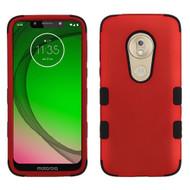 *Sale* Military Grade Certified TUFF Hybrid Armor Case for Motorola Moto G7 Play - Red