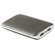 High Efficiency 8400mAh Smart Power Bank Battery Pack Dual USB Charger with Samsung SDI Cell - Grey