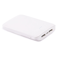 High Efficiency 8400mAh Smart Power Bank Battery Pack Dual USB Charger with Samsung SDI Cell - White