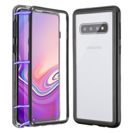 *SALE* Magnetic Adsorption Tempered Glass Hybrid Bumper Case and Screen Protector for Samsung Galaxy S10 - Black