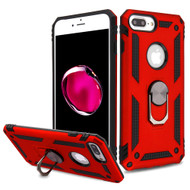 Armor Ring Finger Loop Hybrid Case for iPhone 8 Plus / 7 Plus / 6S Plus / 6 Plus - Red