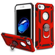 Armor Ring Finger Loop Hybrid Case for iPhone 8 / 7 / 6S / 6 - Red