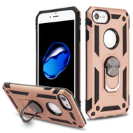 Armor Ring Finger Loop Hybrid Case for iPhone 8 / 7 / 6S / 6 - Rose Gold