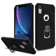 *Sale* Armor Ring Finger Loop Hybrid Case for iPhone XR - Black