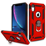 Armor Ring Finger Loop Hybrid Case for iPhone XR - Red