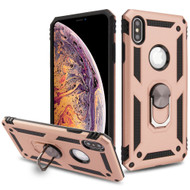 Armor Ring Finger Loop Hybrid Case for iPhone XS Max - Rose Gold