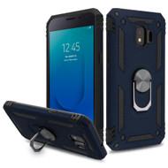 Armor Ring Finger Loop Hybrid Case for Samsung Galaxy J2 / J2 Pure - Navy Blue
