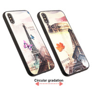 3D Stereograph Hybrid Case for iPhone XS / X - Eiffel Tower