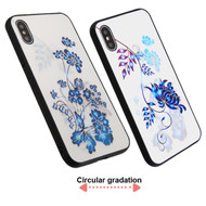 3D Stereograph Hybrid Case for iPhone XS / X - Flowers