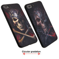 3D Stereograph Hybrid Case for iPhone 8 Plus / 7 Plus - Pirate Skull