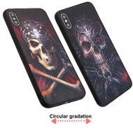 3D Stereograph Hybrid Case for iPhone XS Max - Pirate Skull