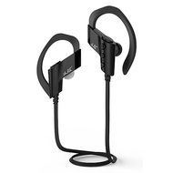 Bluetooth V4.1 Wireless In-Ear Earhook Sport Headphones with Microphone - Black