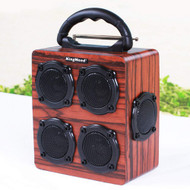 Woody Stereo Bluetooth Wireless Speakers with Bass Membranes