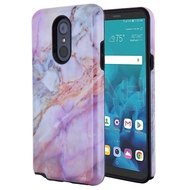 Fuse Slim Armor Hybrid Case for LG Stylo 4 / Stylo 4 Plus - Marble Purple