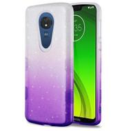 Tuff Full Glitter Hybrid Protective Case for Motorola Moto G7 Power - Gradient Purple