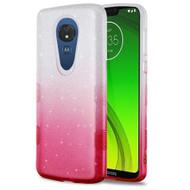 Tuff Full Glitter Hybrid Protective Case for Motorola Moto G7 Power - Gradient Hot Pink