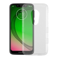 Military Grade Certified TUFF Lucid Transparent Hybrid Armor Case for Motorola Moto G7 Play - Clear