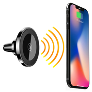 Magnetic Air Vent Mount 10W Fast Wireless Charging Qi Charger - Black