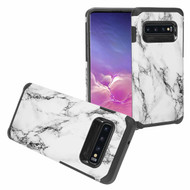 *Sale* Hybrid Multi-Layer Armor Case for Samsung Galaxy S10 - Marble White 01