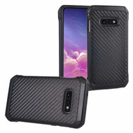 *SALE* Tough Anti-Shock Hybrid Case for Samsung Galaxy S10e - Carbon Fiber