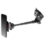 Magnetic Windshield and Dashboard Telescopic Mount - Black