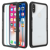 *Sale* Reflex Hybrid Case with Front and Back Tempered Glass Protector for iPhone XS / X - Black
