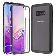 *Sale* Magnetic Adsorption Tempered Glass Hybrid Bumper Case and Screen Protector for Samsung Galaxy S10e - Black