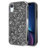 Desire Mosaic Crystal Hybrid Case for iPhone XR - Black