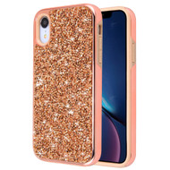 *Sale* Desire Mosaic Crystal Hybrid Case for iPhone XR - Rose Gold