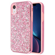 Desire Mosaic Crystal Hybrid Case for iPhone XR - Pink