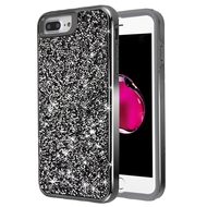 Desire Mosaic Crystal Hybrid Case for iPhone 8 Plus / 7 Plus / 6S Plus / 6 Plus - Black