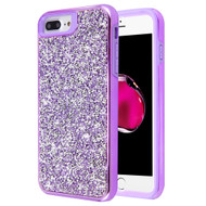 Desire Mosaic Crystal Hybrid Case for iPhone 8 Plus / 7 Plus / 6S Plus / 6 Plus - Purple