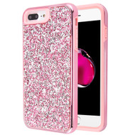 Desire Mosaic Crystal Hybrid Case for iPhone 8 Plus / 7 Plus / 6S Plus / 6 Plus - Pink
