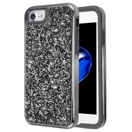 Desire Mosaic Crystal Hybrid Case for iPhone 8 / 7 / 6S / 6 - Black
