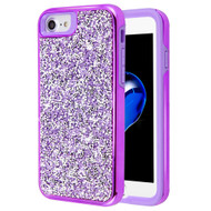 Desire Mosaic Crystal Hybrid Case for iPhone 8 / 7 / 6S / 6 - Purple