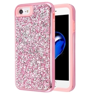 Desire Mosaic Crystal Hybrid Case for iPhone 8 / 7 / 6S / 6 - Pink