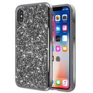 Desire Mosaic Crystal Hybrid Case for iPhone XS / X - Black