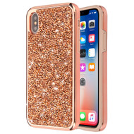 *Sale* Desire Mosaic Crystal Hybrid Case for iPhone XS / X - Rose Gold