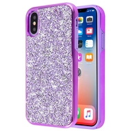 *Sale* Desire Mosaic Crystal Hybrid Case for iPhone XS / X - Purple