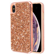 Desire Mosaic Crystal Hybrid Case for iPhone XS Max - Rose Gold