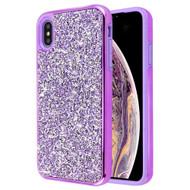 Desire Mosaic Crystal Hybrid Case for iPhone XS Max - Purple