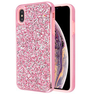 *Sale* Desire Mosaic Crystal Hybrid Case for iPhone XS Max - Pink