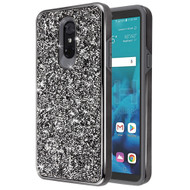 Desire Mosaic Crystal Hybrid Case for LG Stylo 4 / Stylo 4 Plus - Black