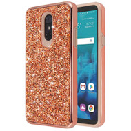 Desire Mosaic Crystal Hybrid Case for LG Stylo 4 / Stylo 4 Plus - Rose Gold