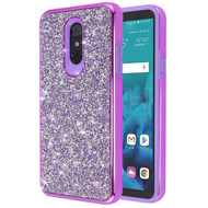 Desire Mosaic Crystal Hybrid Case for LG Stylo 4 / Stylo 4 Plus - Purple
